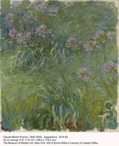 Claude monet french 1840 1926 agapanthus 1914 26 oil on canvas
