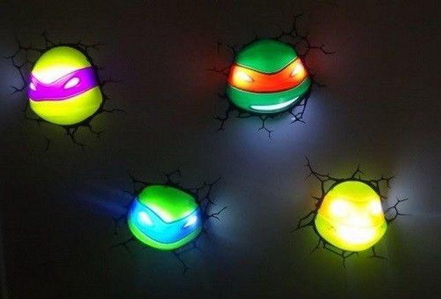 Ninja turtles night light 1 geekxlovin pinterest - Turtle nite light ...