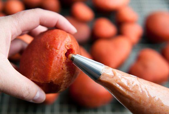 Blood orange curd-filled beet doughnuts | NOM NOM NOM | Pinterest