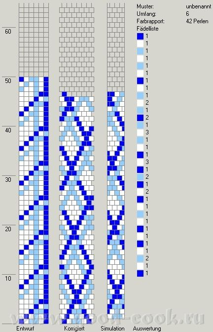 Website with 9 bead crochet ropte charts