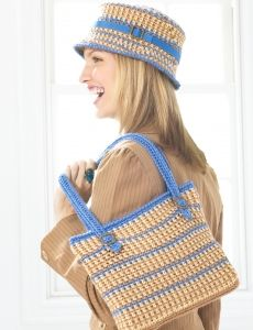Love Of Crochet Com : ... -Bucket Hat and Bag - Blue Version The Love Of Crochet Pinter