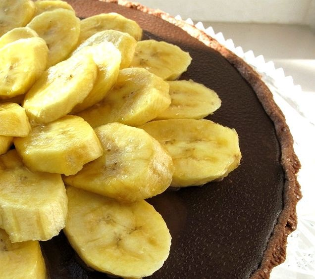 ... French Fridays With Dorie - Double Chocolate Nutella and Banana Tart