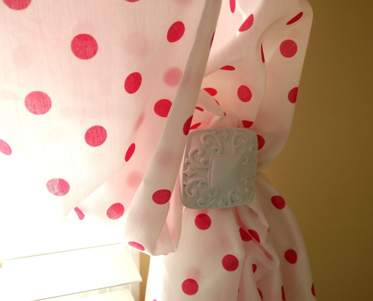 Laura Ashley Striped Curtains Red and White Polka Dot Fabric