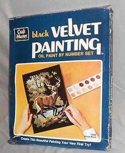 Black Velvet Paint-By-Number-Set