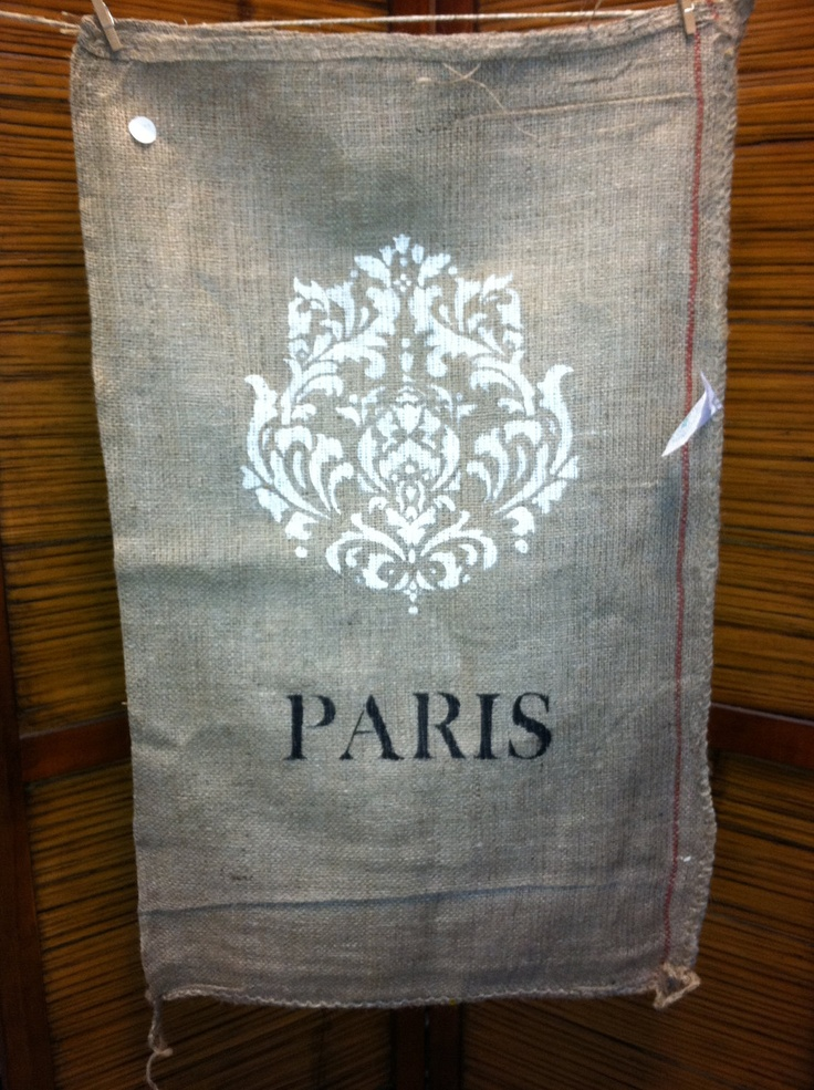 Pin by bethany on crafts pinterest for Burlap sack decor