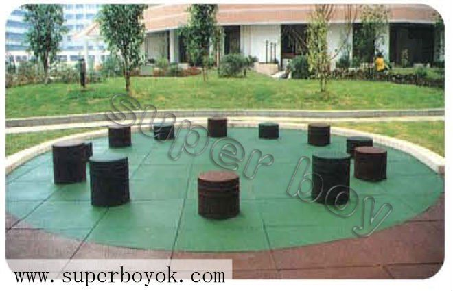 Comdesign Of A Retaining Wall : Kids Outdoor Playground Safety Rubber Flooring 1-23B $10~$20