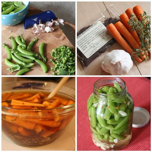 Pickled sugar snap peas and carrots | eats | Pinterest