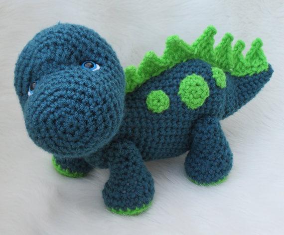 New Crochet Pattern Cute Dinosaur by WoolandWhims on Etsy, $4.95