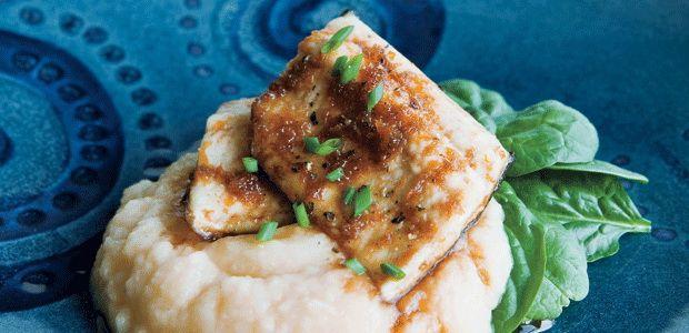 Maple-Glazed Trout with Maple Rutabaga Mash