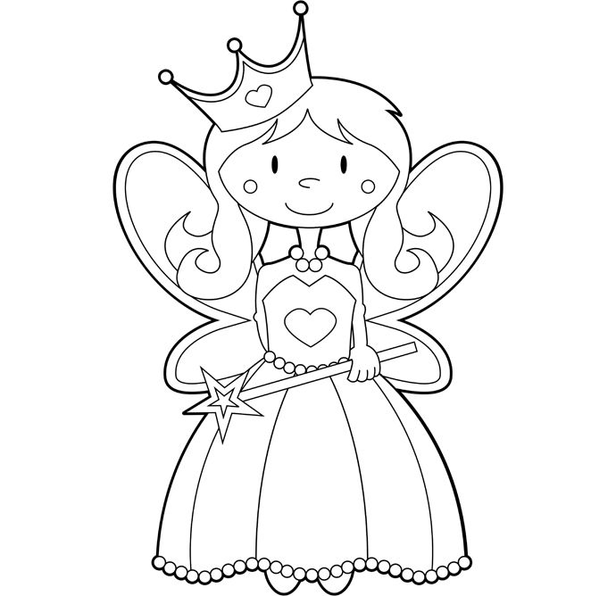 Cute coloring pages for dentist coloring pages for Cute fairy coloring pages