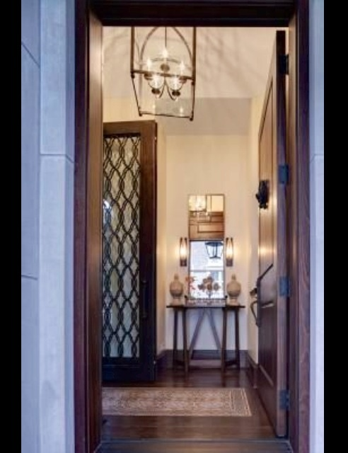 Entryway light fixture small table New House