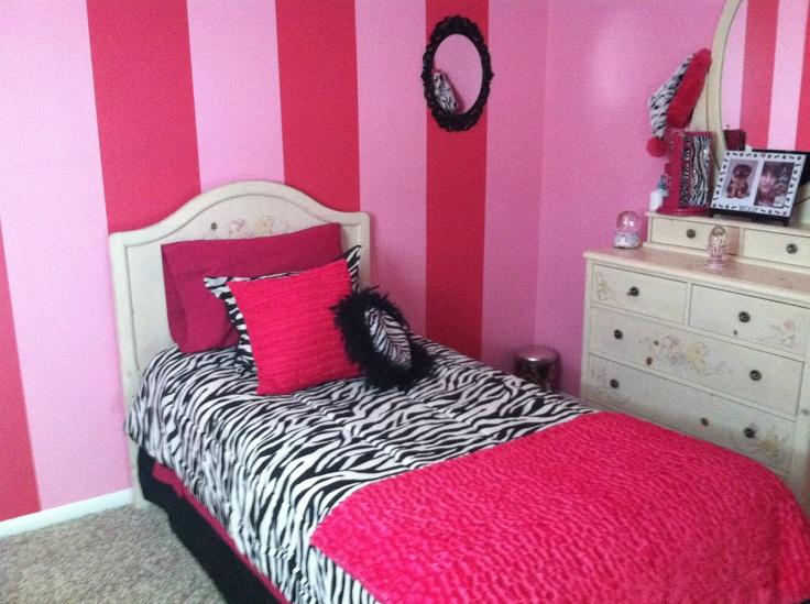 pink and zebra girls bedroom payton 39 s new room pinterest