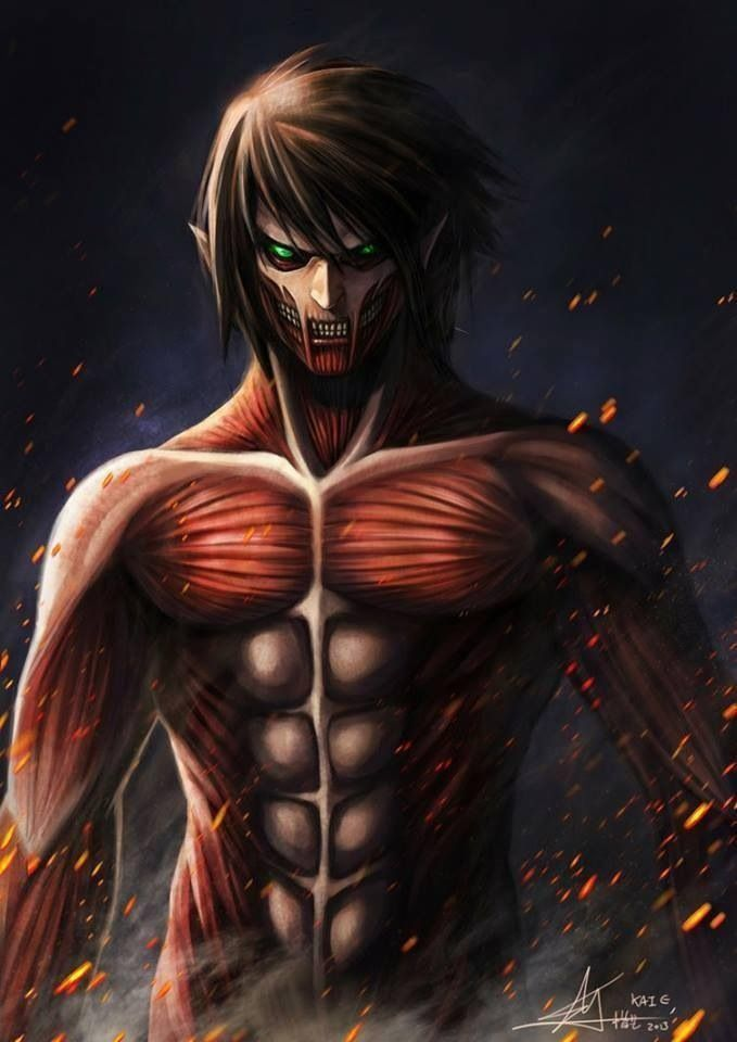 Eren jaeger titan transformation