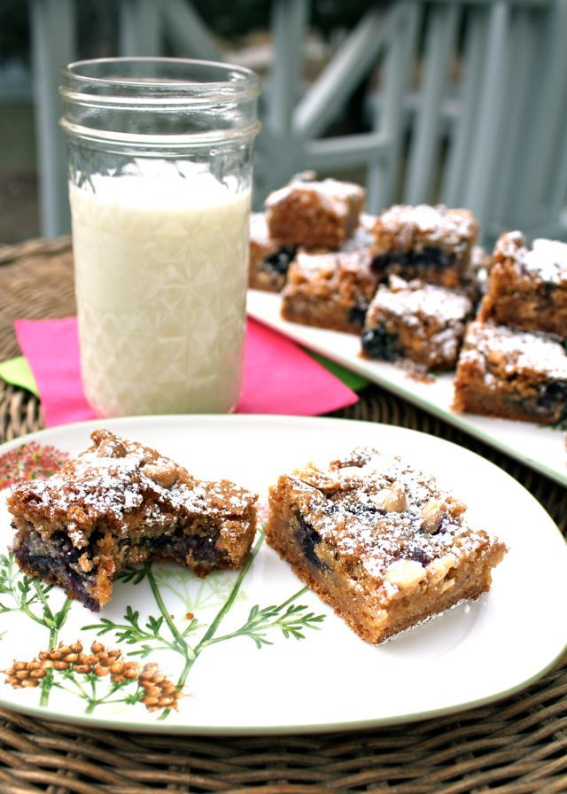Spicy Perspective Blueberry White Chocolate Blondies - A Spicy ...