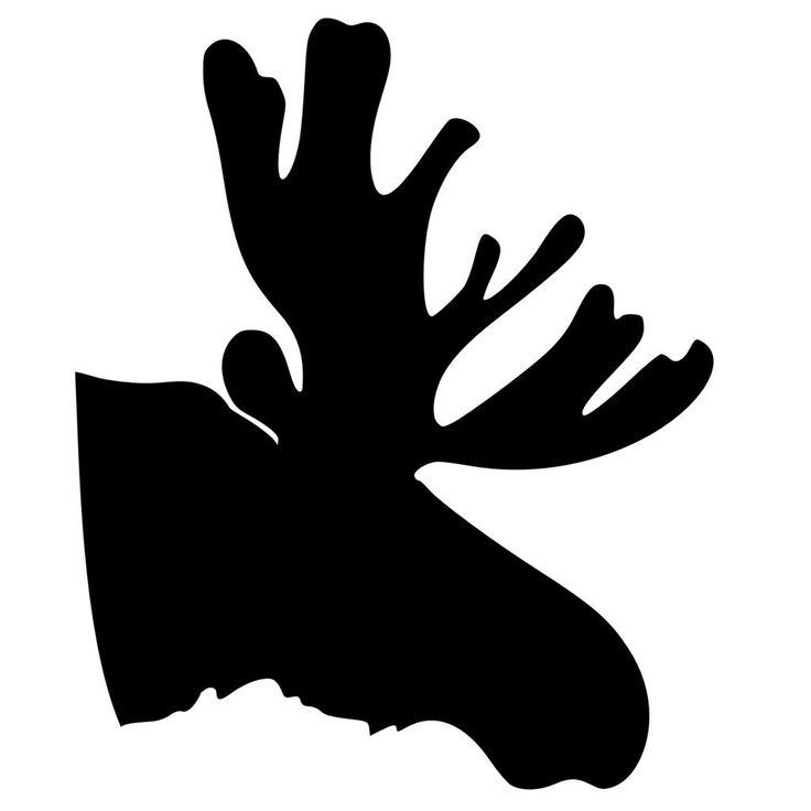 Big Moose Head Silhouette Vinyl Wall Art Sticker VeryBig ...