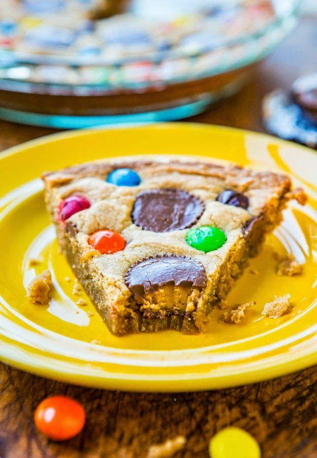 Triple Peanut Butter Cookie Pie | Treats :) | Pinterest