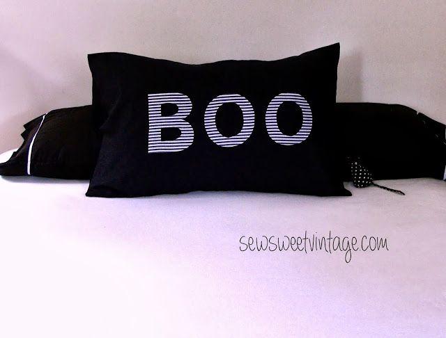 Sew Sweet Vintage: Boo-tiful IKEA pillowcase