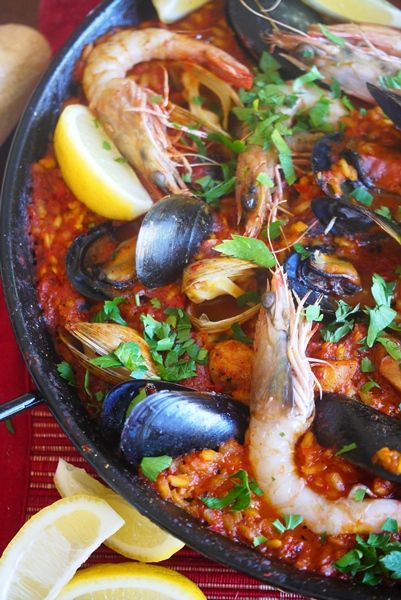 chorizo chicken and shrimp paella mixta chicken and shrimp paella with ...