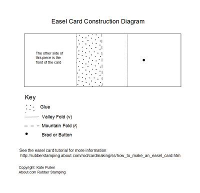 Simple One Piece Easel Card | Card making | Pinterest