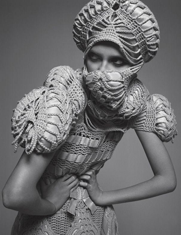 Intricate knitwear by Swedish Designer Sandra Backlund.
