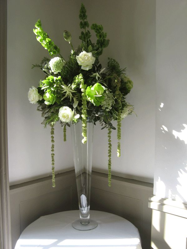 Tall vase wedding flower inspiration pinterest - Centre de table vase cylindrique ...