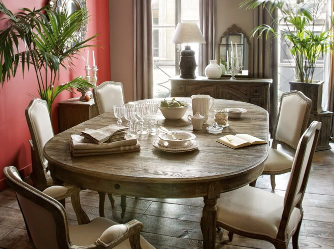chateau french country dining room
