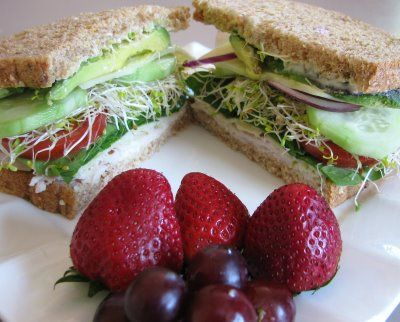 Turkey, Swiss and Vegetable Sandwich | Recipes - Sandwiches | Pintere ...