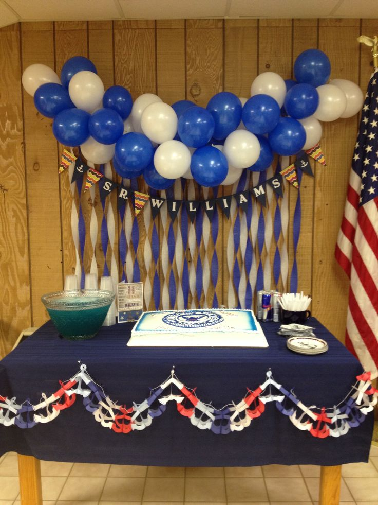 Navy going away party decorations party ideas pinterest for Air force decoration