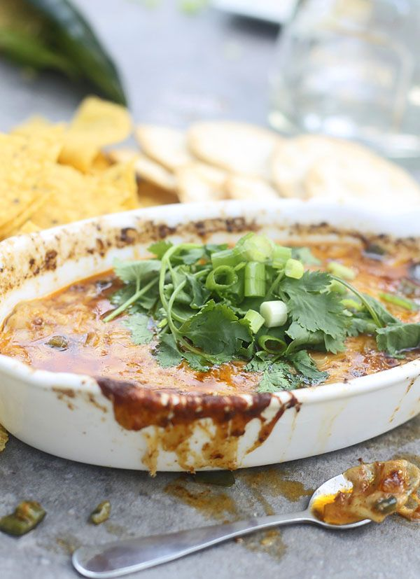 Classic Queso Fundido with Poblano, Chorizo and Tequila | Cooking For ...