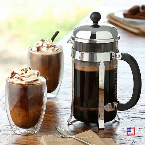 kawa zbożowa mrożona - z lodami i bitą śmietaną