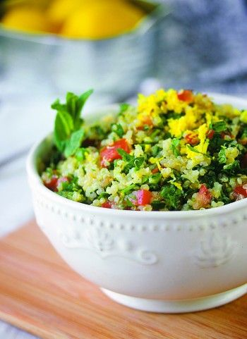 gluten-free quinoa tabbouleh | clean recipes | Pinterest