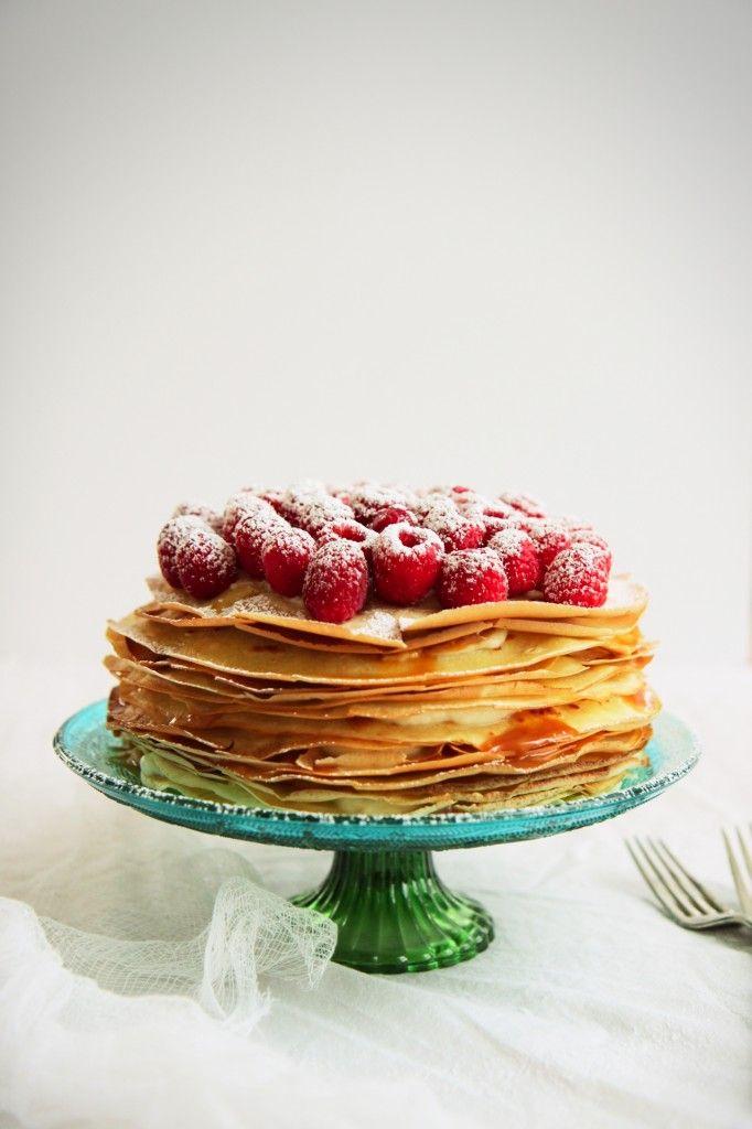 Caramel Mascarpone Crepe Cake | eye candy | Pinterest