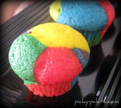 Rainbow Bright Cupcakes. Happy 2nd Birthday