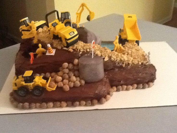 construction site cake pictures