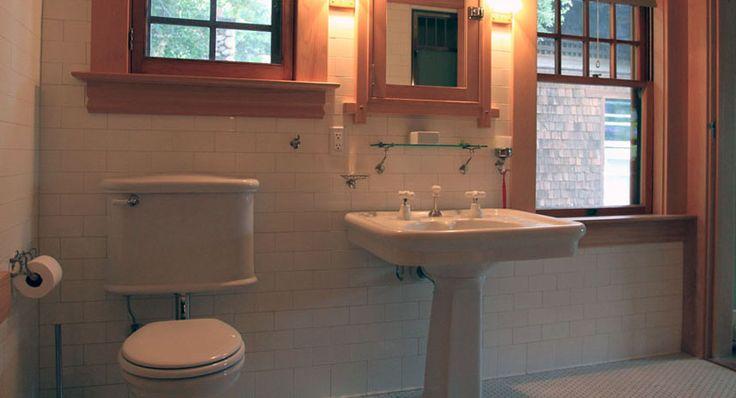 Wood Trim Craftsman Bathroom Pinterest