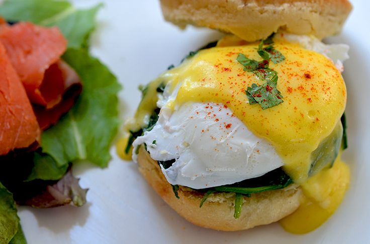 Eggs Benedict Florentine with lemony Hollondaise saace from Epicurean ...