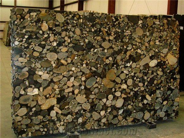 Black Mosaic Gold Granite Furniture Pinterest