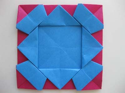 origami photo frame fold and cut pinterest