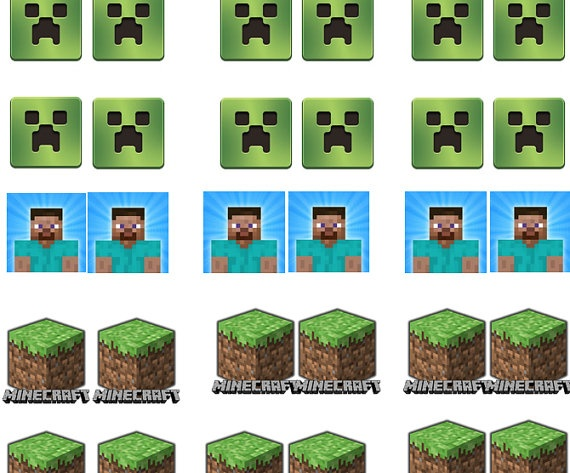 Minecraft Cupcake Toppers Printable