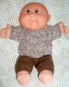PDF Download - Lenny Knitting Pattern to suit Cabbage Patch Babies