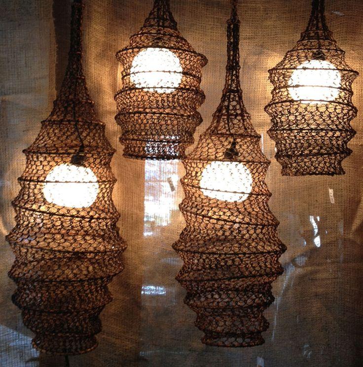 Netchandelier Kitchen Lights : fish net lights  RUSTIC Rampage  Pinterest