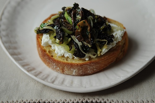 Morel Crostini Recipe — Dishmaps