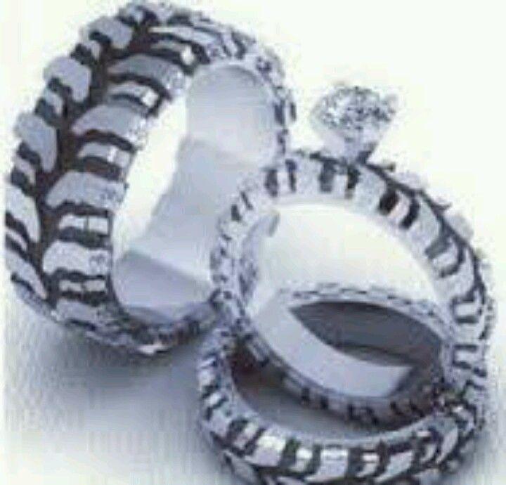 Mud Tire Wedding Rings Sets