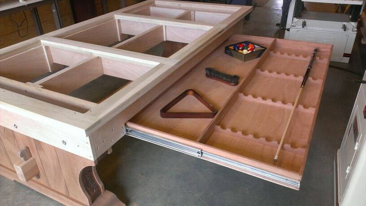 Custom pool table build by tim mcclellan decorative for How to build a billiard table