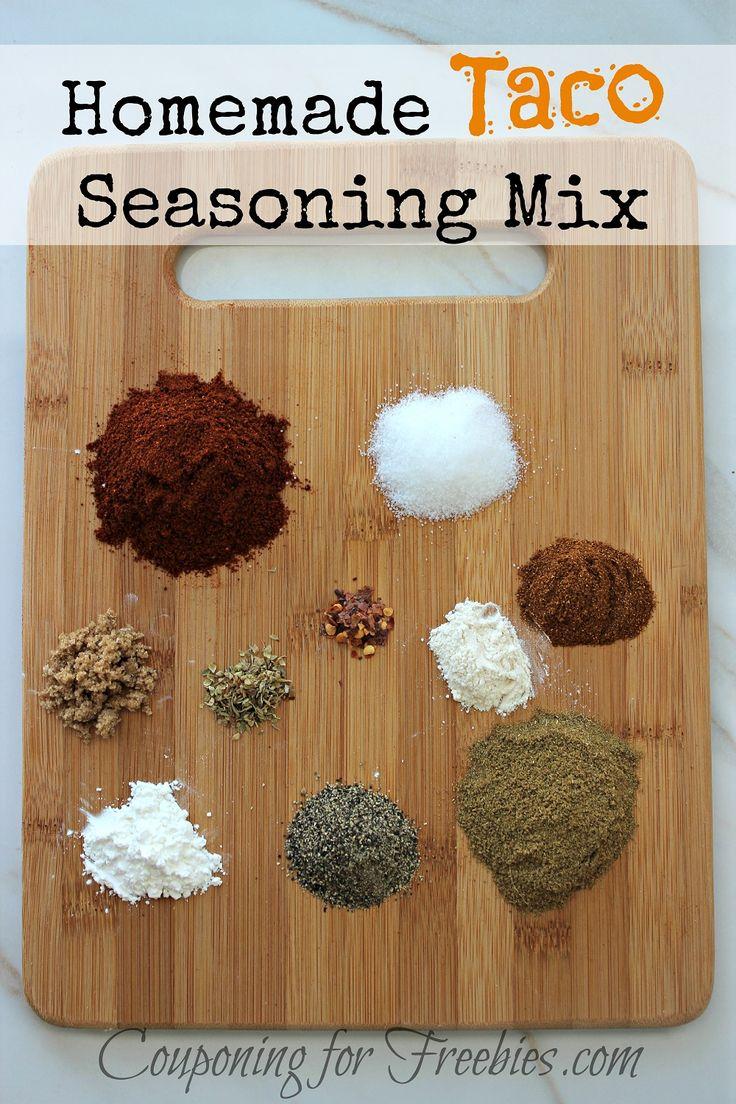 Homemade Taco Seasoning Mix Recipe - http://couponingforfreebies.com ...