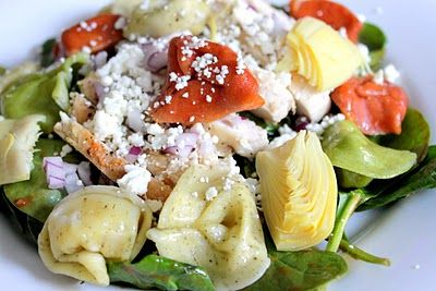 ... Next Door: Tortellini Spinach Salad with Balsamic-Tomato Vinaigrette