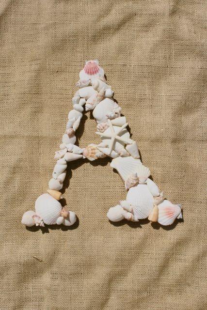 Monogram made of shells