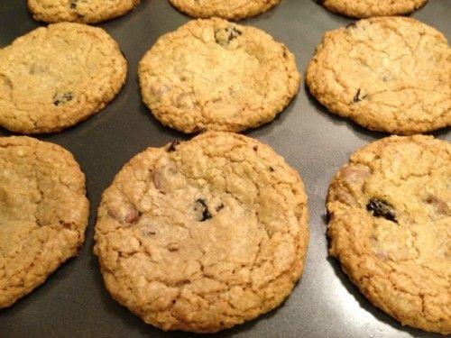 Chocolate Cherry Oatmeal Cookies -super easy to make too!