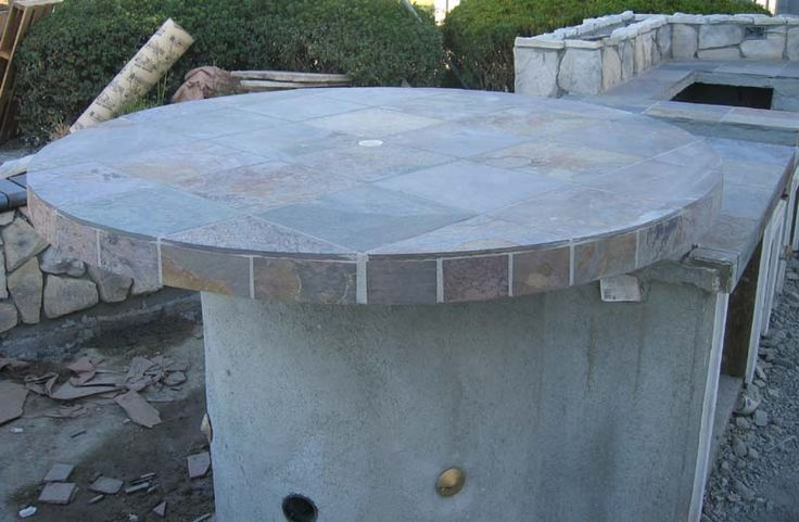 Round bar height grill island outdoor spaces pinterest