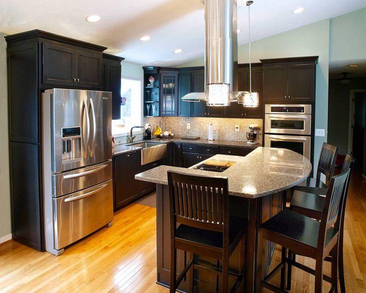 Fridge, stove and hood,Floors and glass cabinets, lights | Split ...